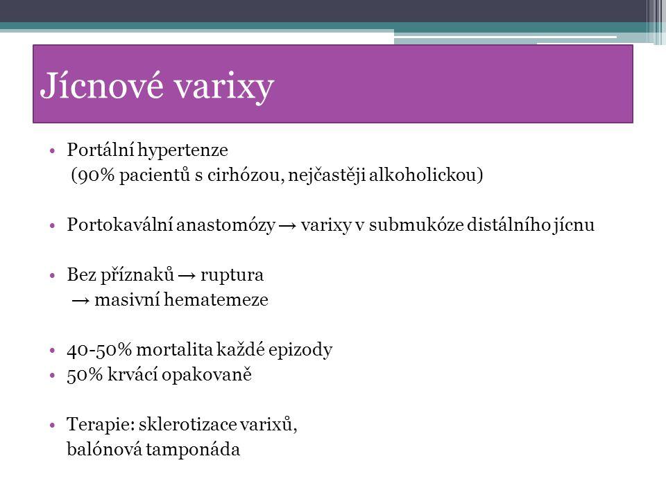 Jícnové varixy Portální hypertenze