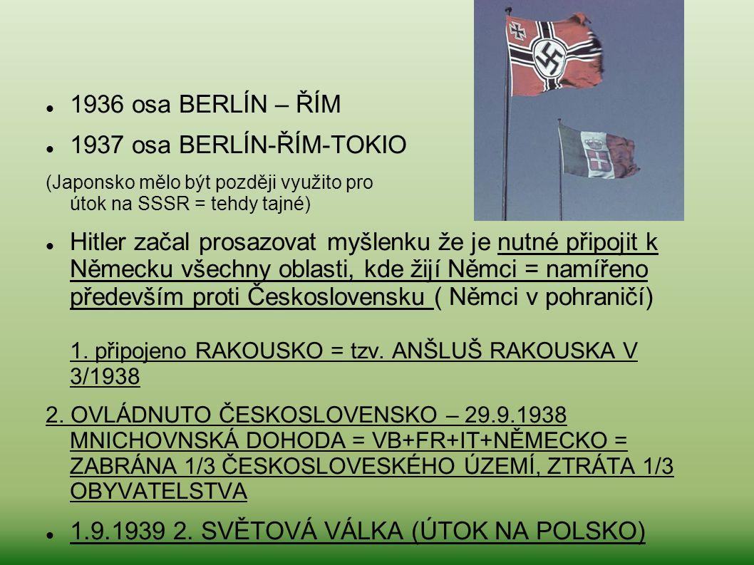 1.9.1939 2. SVĚTOVÁ VÁLKA (ÚTOK NA POLSKO)