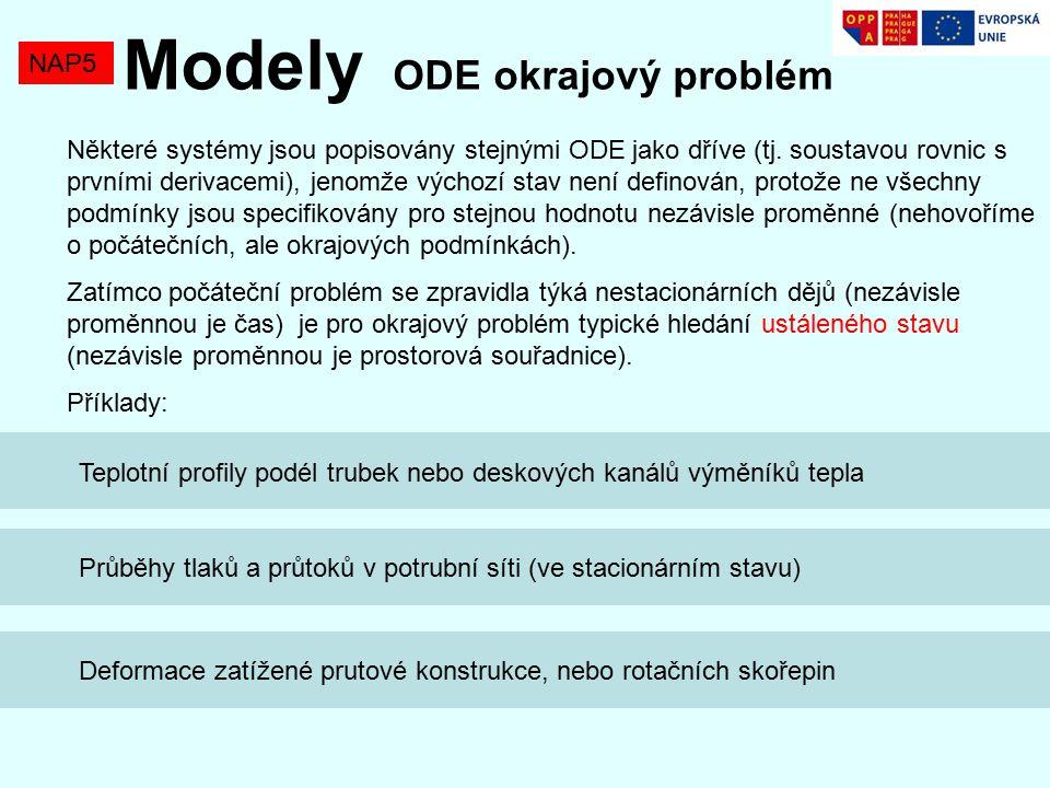 Modely ODE okrajový problém