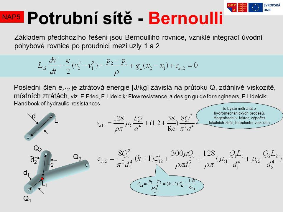 Potrubní sítě - Bernoulli