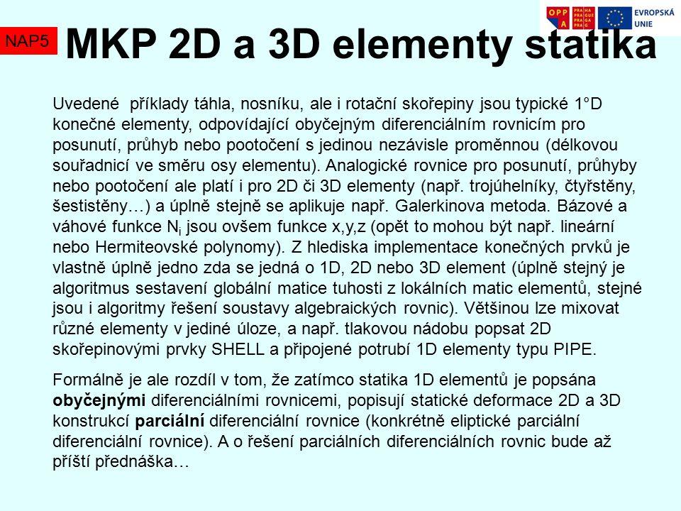 MKP 2D a 3D elementy statika