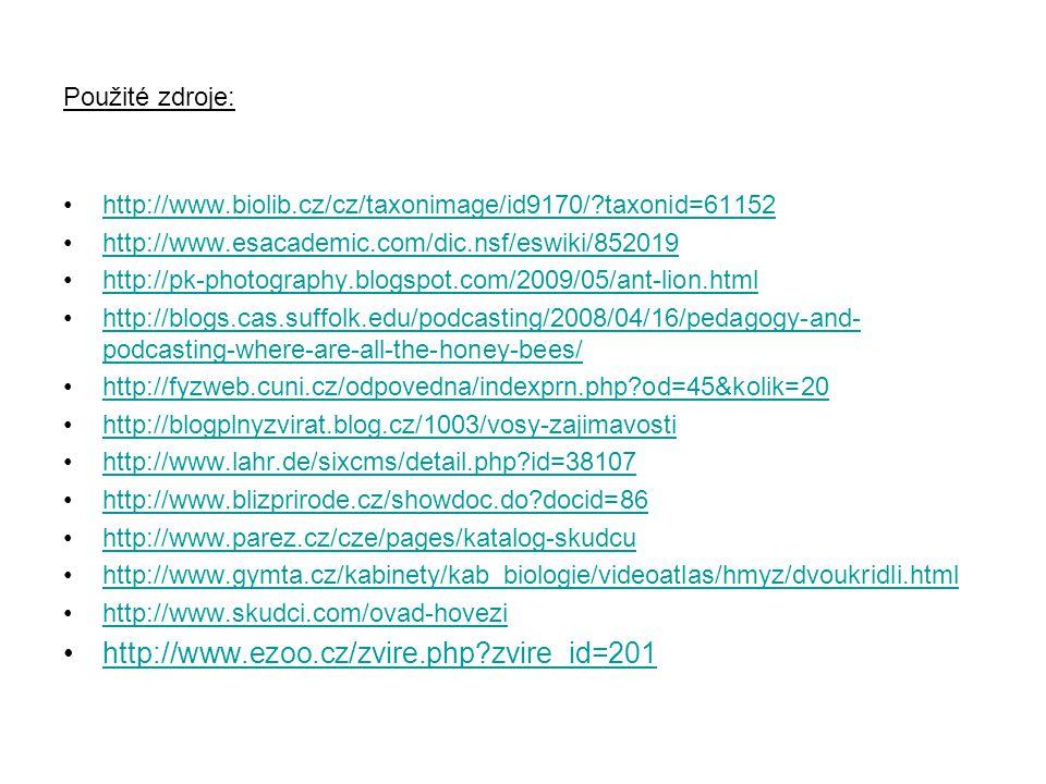 http://www.ezoo.cz/zvire.php zvire_id=201 Použité zdroje: