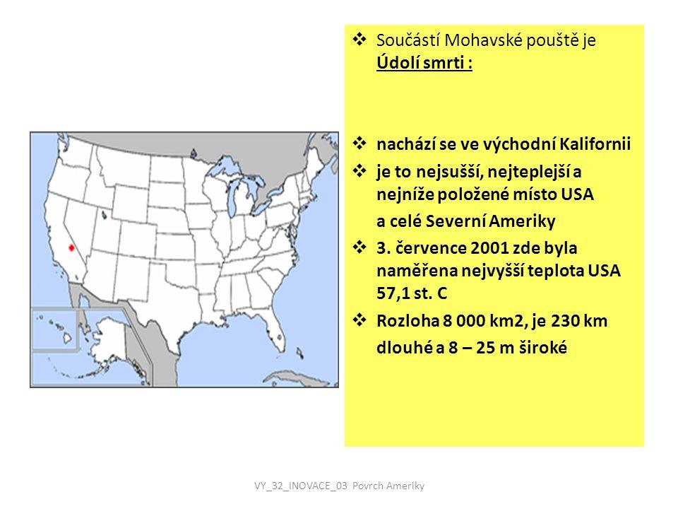 VY_32_INOVACE_03 Povrch Ameriky