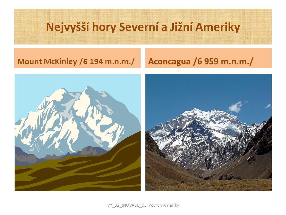 Nejvyšší hory Severní a Jižní Ameriky