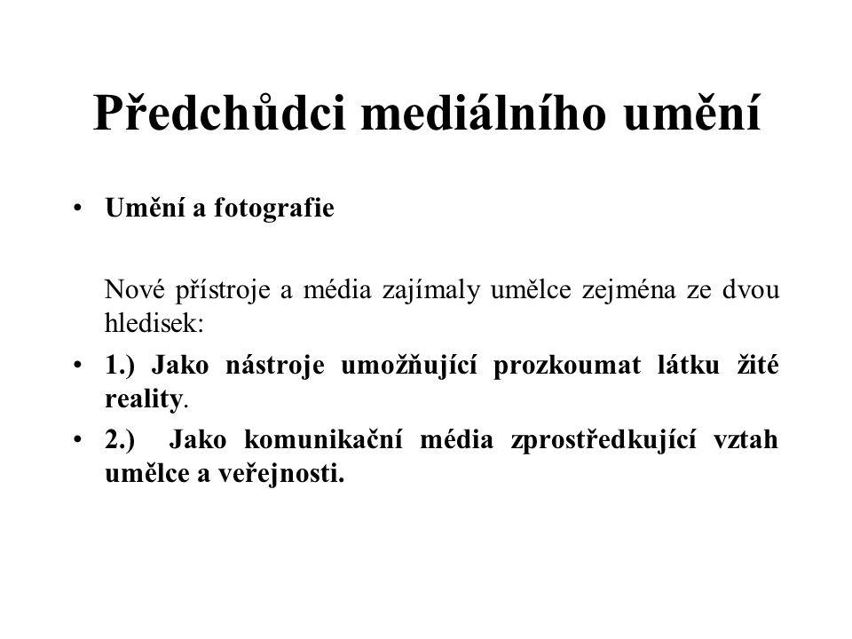 Předchůdci mediálního umění