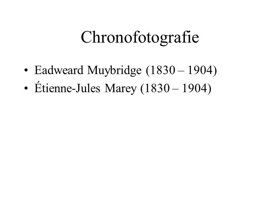Chronofotografie Eadweard Muybridge (1830 – 1904)