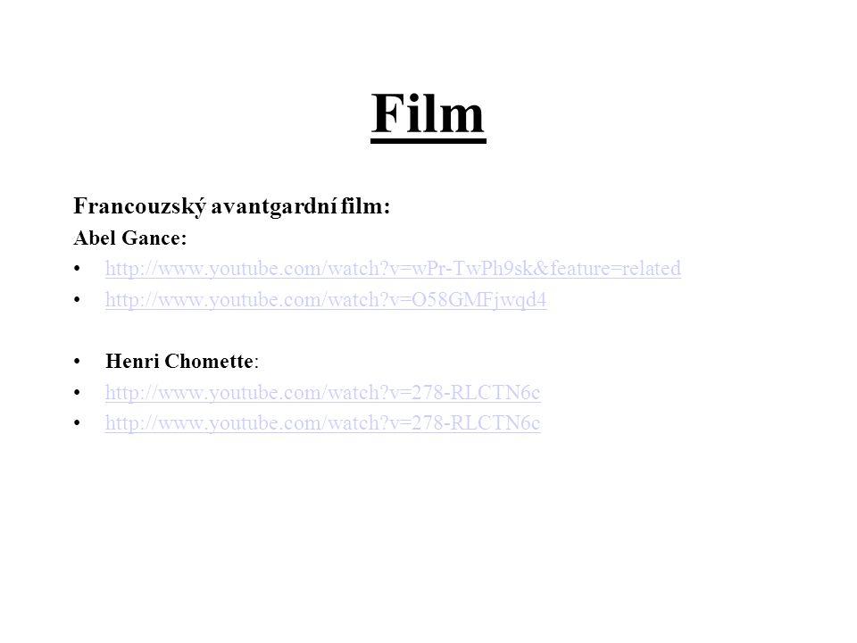 Film Francouzský avantgardní film: Abel Gance: