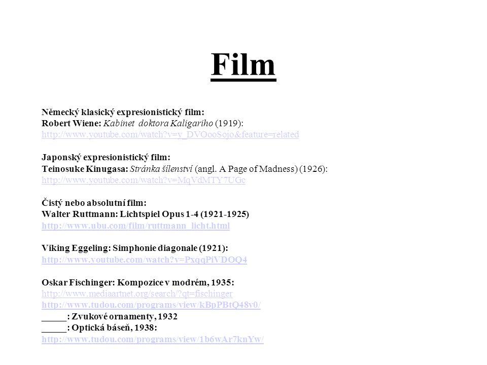 Film Německý klasický expresionistický film: