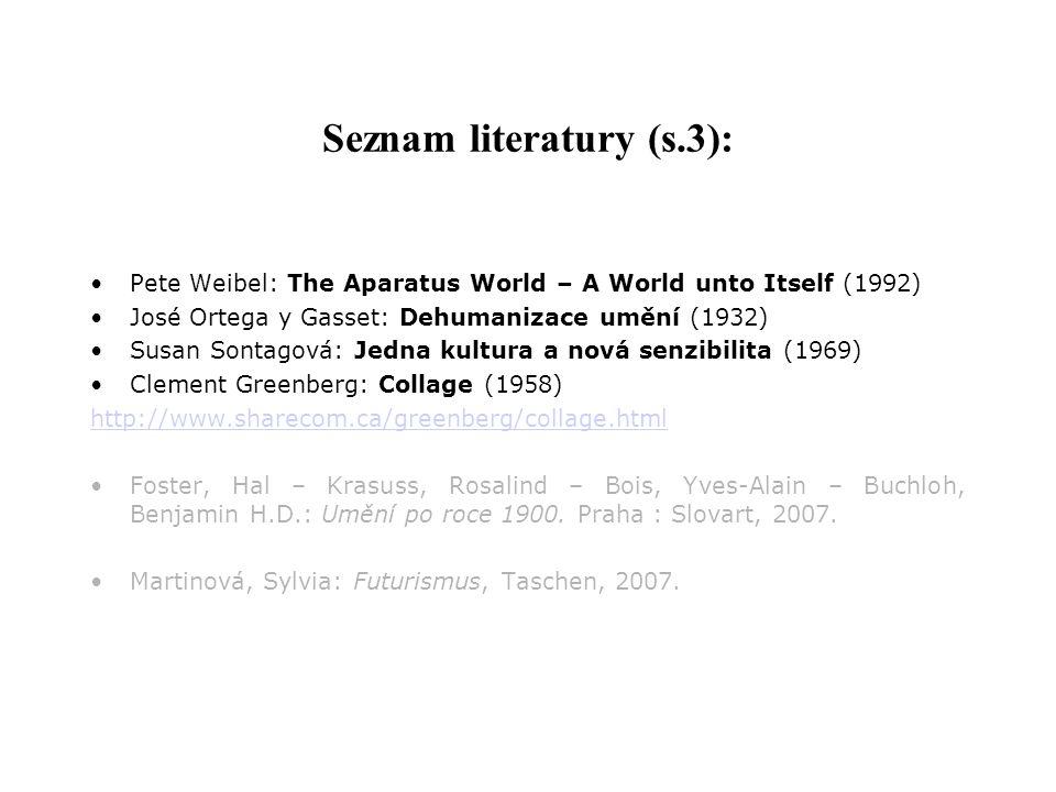 Seznam literatury (s.3):