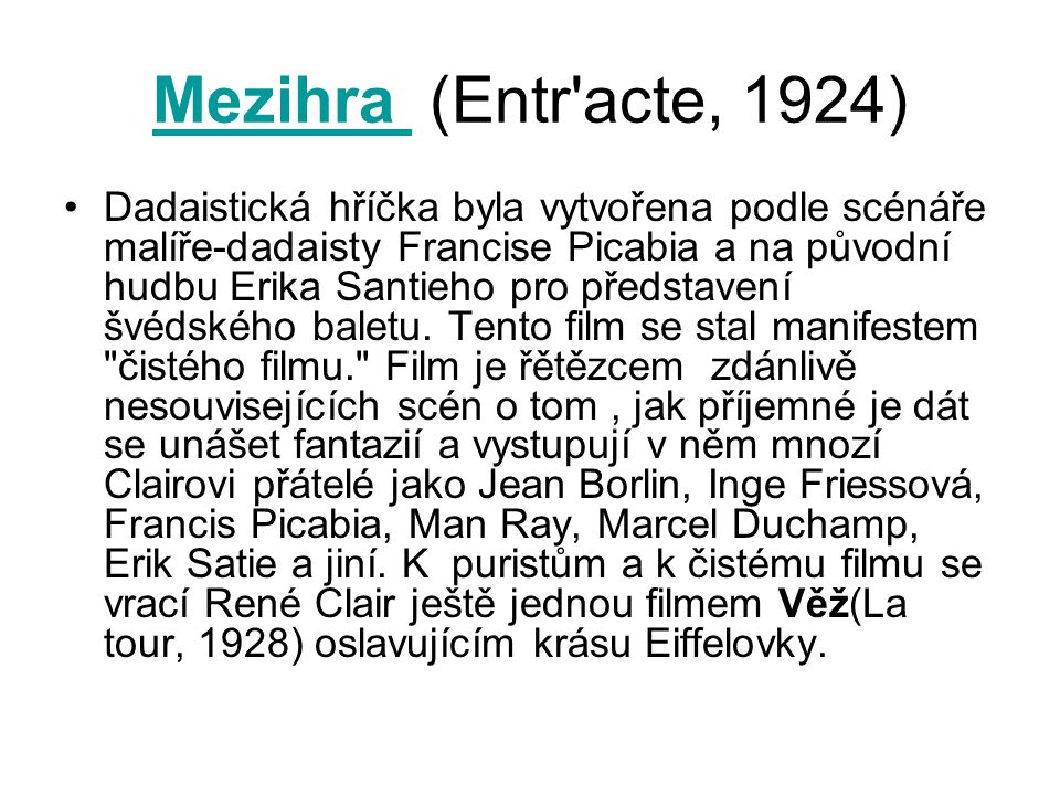 Mezihra (Entr acte, 1924)