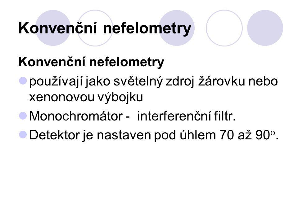 Konvenční nefelometry