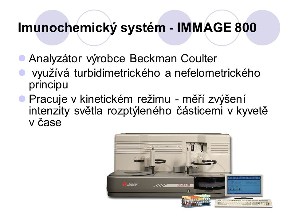Imunochemický systém - IMMAGE 800