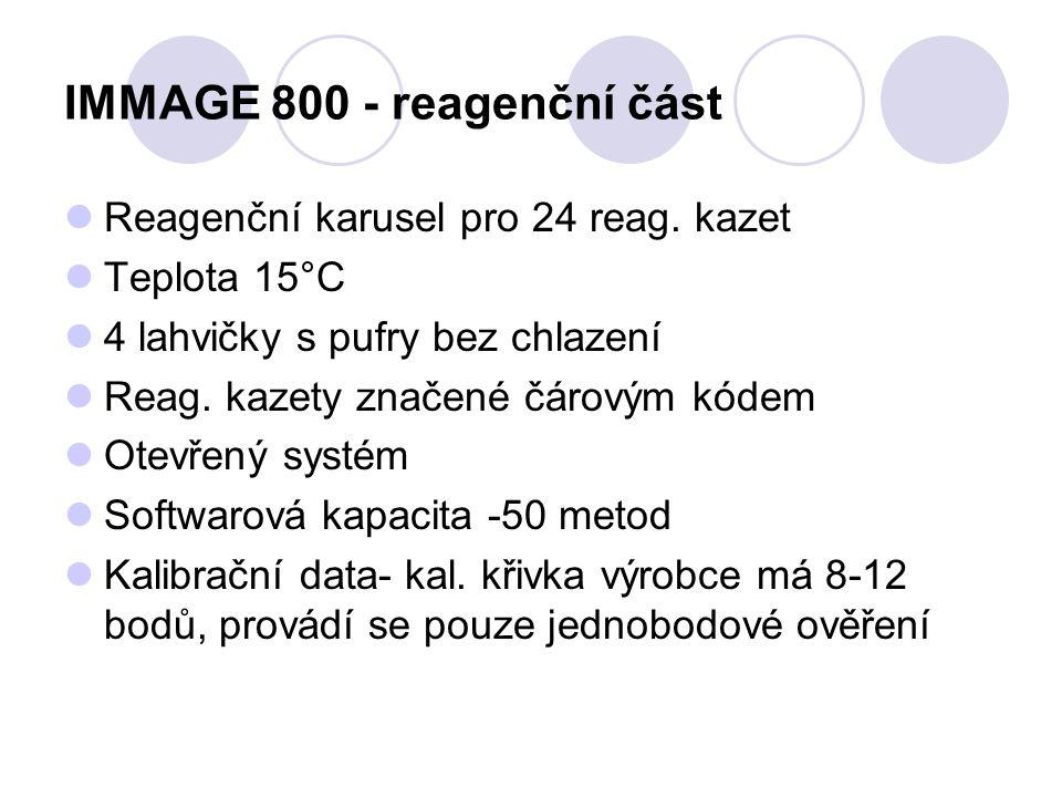 IMMAGE 800 - reagenční část