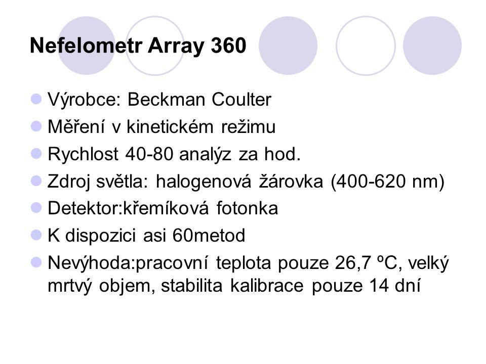 Nefelometr Array 360 Výrobce: Beckman Coulter