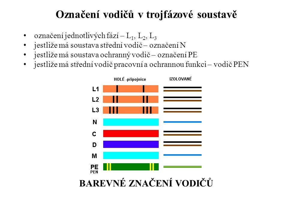 Označení vodičů v trojfázové soustavě