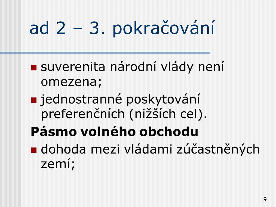 ad 2 – 3. pokračování suverenita národní vlády není omezena;