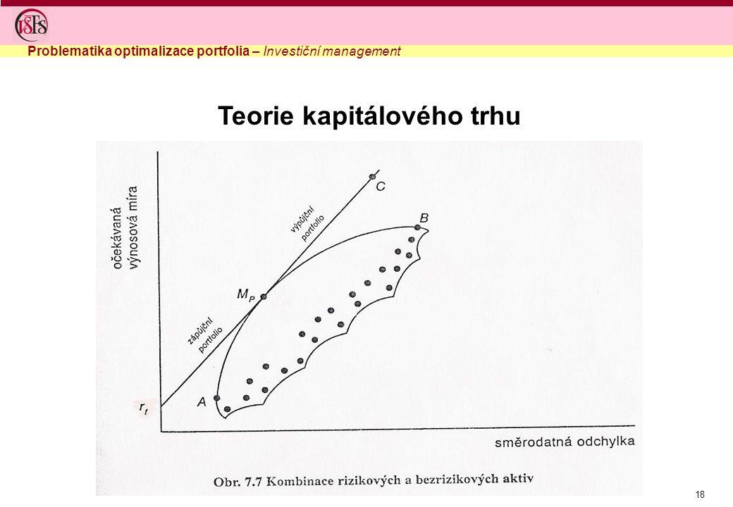Teorie kapitálového trhu