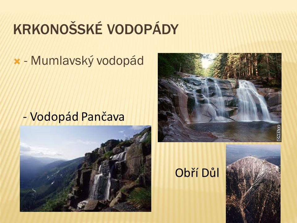 Krkonošské vodopády - Mumlavský vodopád - Vodopád Pančava Obří Důl 8