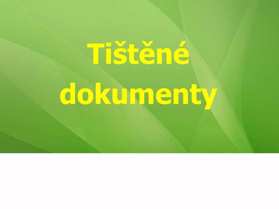 Tištěné dokumenty 14