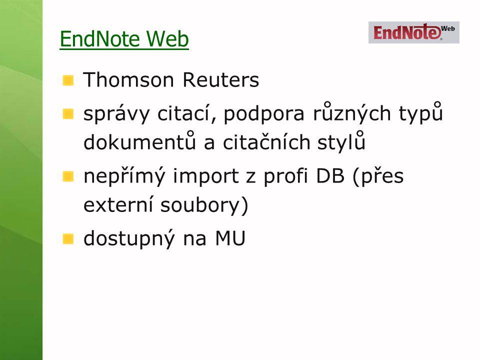 EndNote Web Thomson Reuters