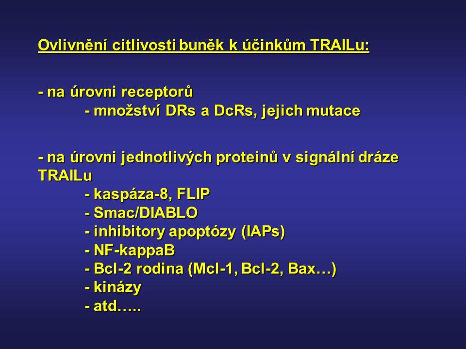 Ovlivnění citlivosti buněk k účinkům TRAILu: