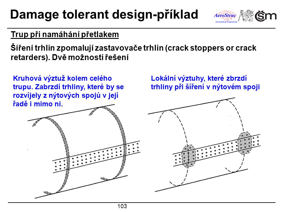 Damage tolerant design-příklad
