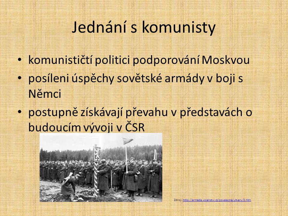 Jednání s komunisty komunističtí politici podporování Moskvou