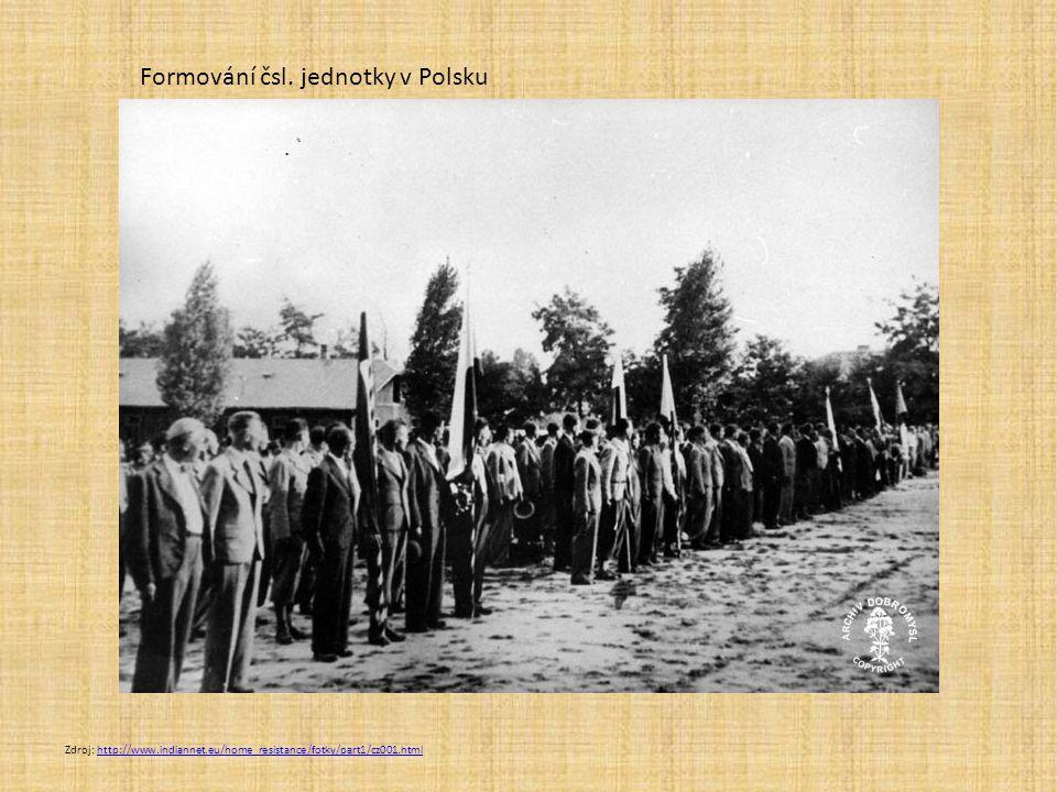 Formování čsl. jednotky v Polsku
