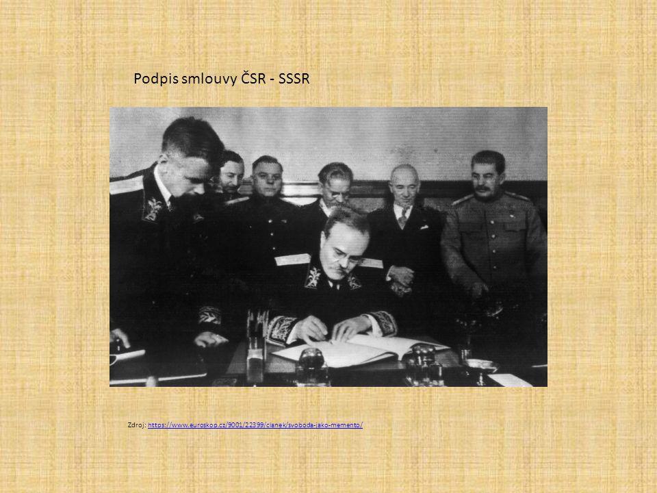Podpis smlouvy ČSR - SSSR