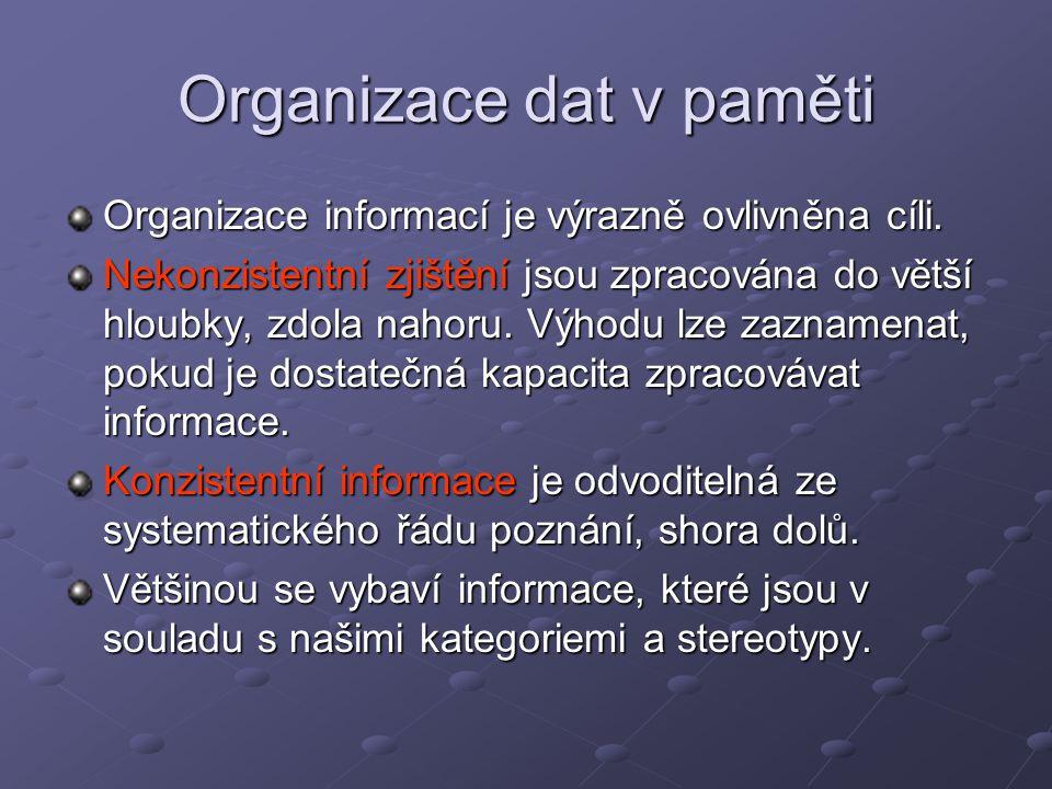 Organizace dat v paměti