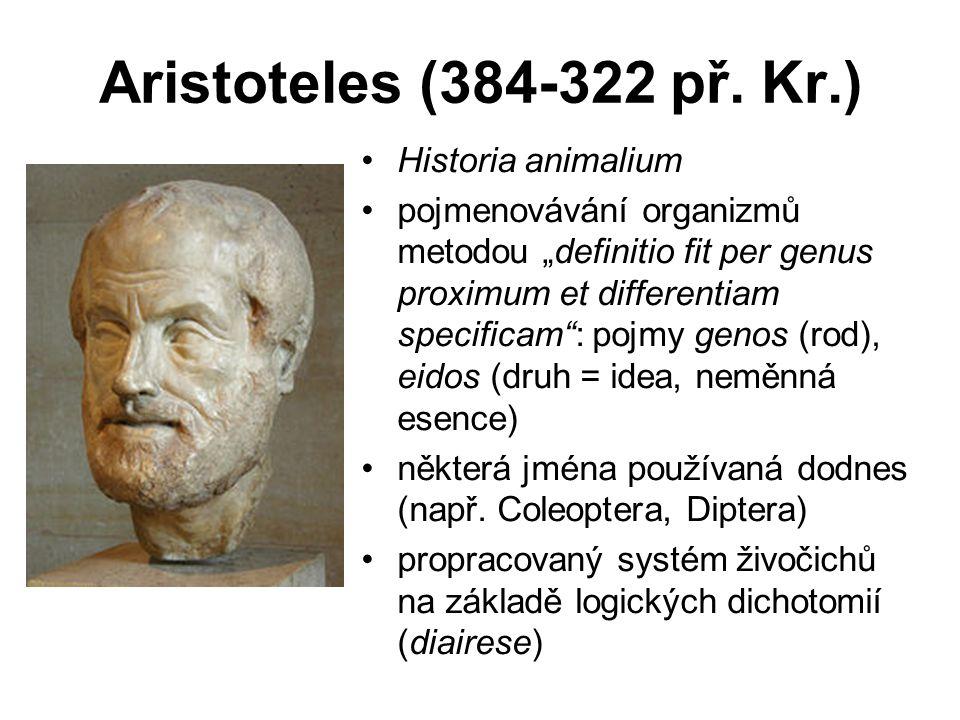 Aristoteles (384-322 př. Kr.) Historia animalium
