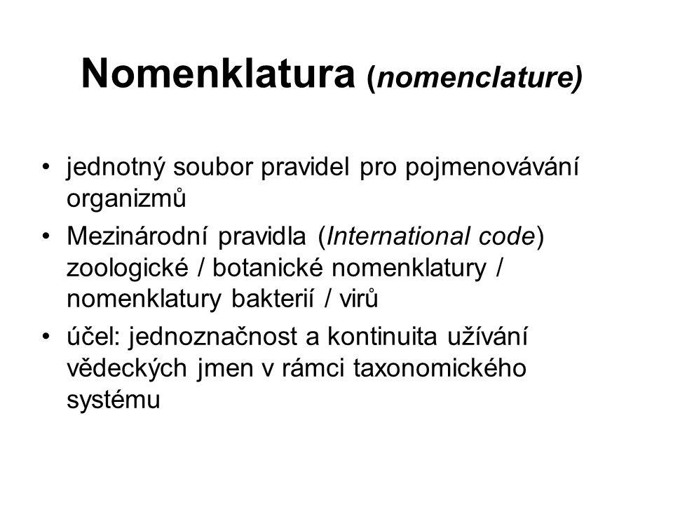 Nomenklatura (nomenclature)