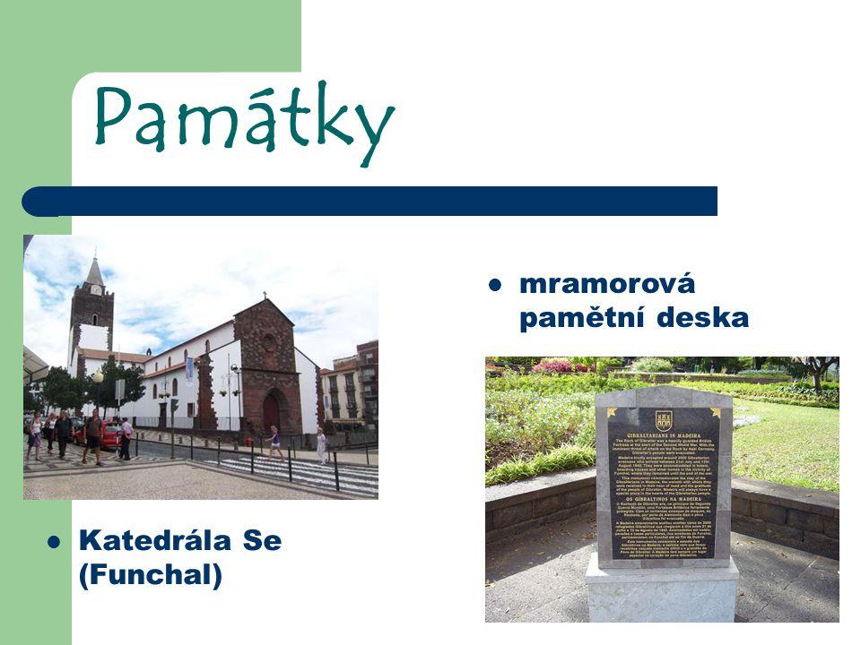 Památky mramorová pamětní deska Katedrála Se (Funchal)