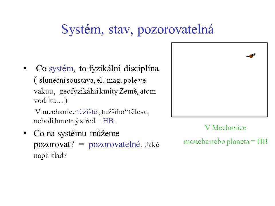 Systém, stav, pozorovatelná