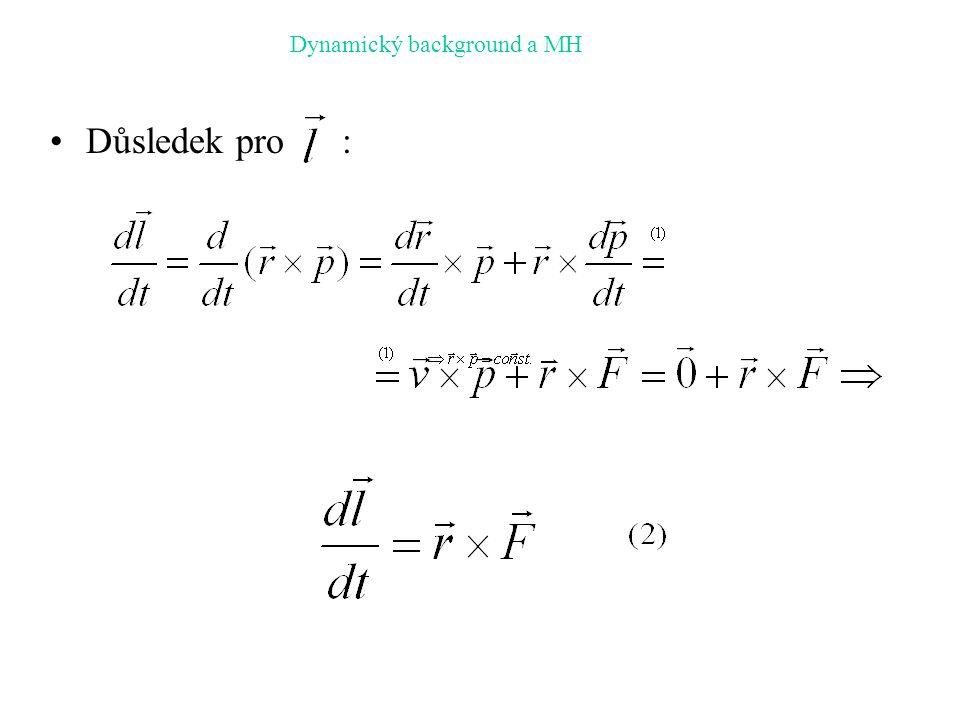 Dynamický background a MH