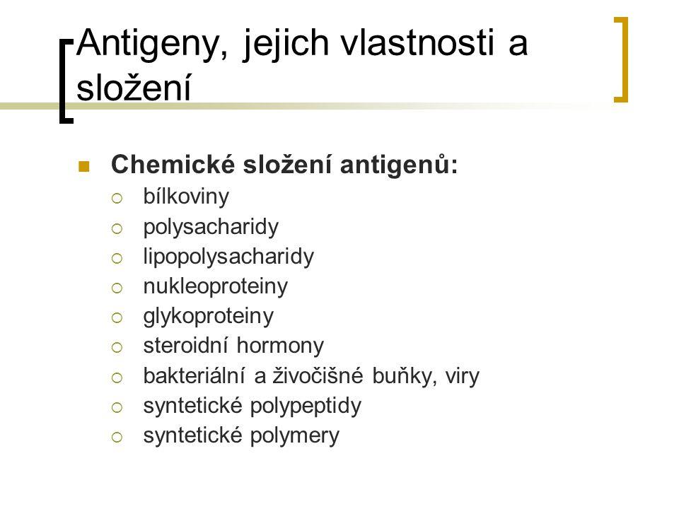 Antigeny, jejich vlastnosti a složení