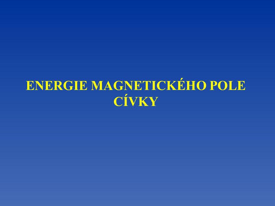 ENERGIE MAGNETICKÉHO POLE CÍVKY