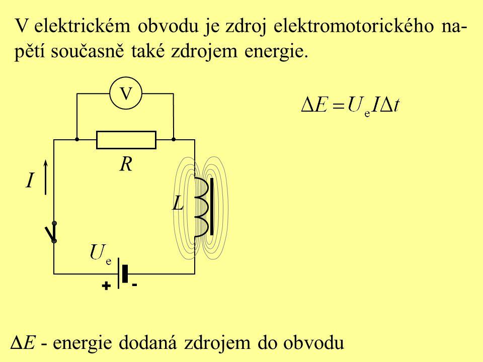 I R L V elektrickém obvodu je zdroj elektromotorického na-