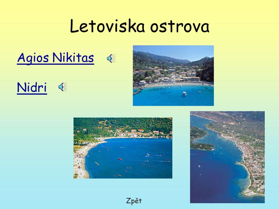 Letoviska ostrova Agios Nikitas Nidri Zpět