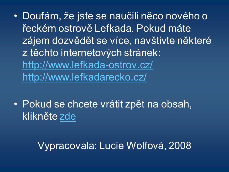 Vypracovala: Lucie Wolfová, 2008