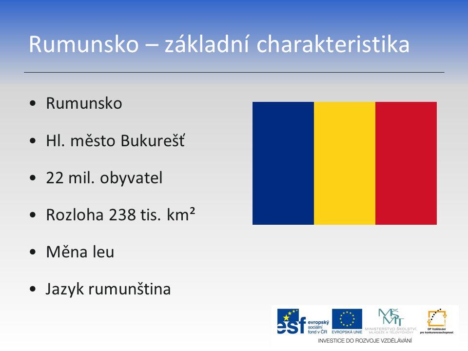 Rumunsko – základní charakteristika
