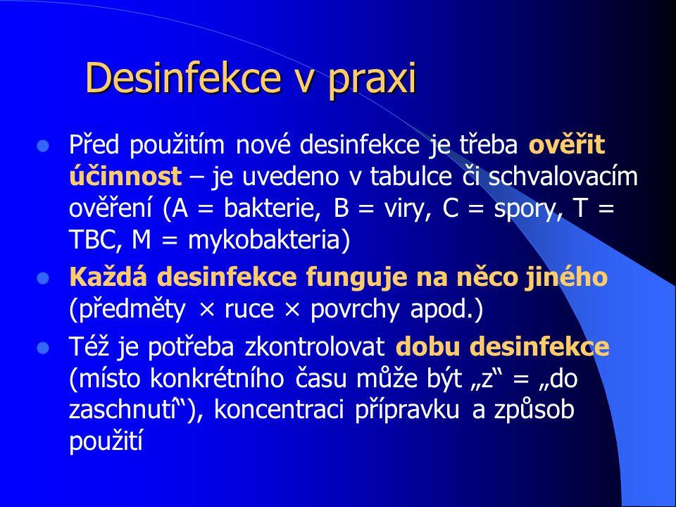 Desinfekce v praxi
