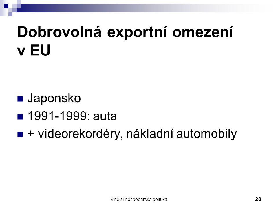 Dobrovolná exportní omezení v EU