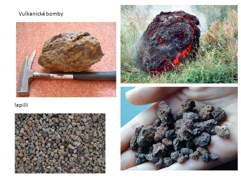 Vulkanické bomby lapilli