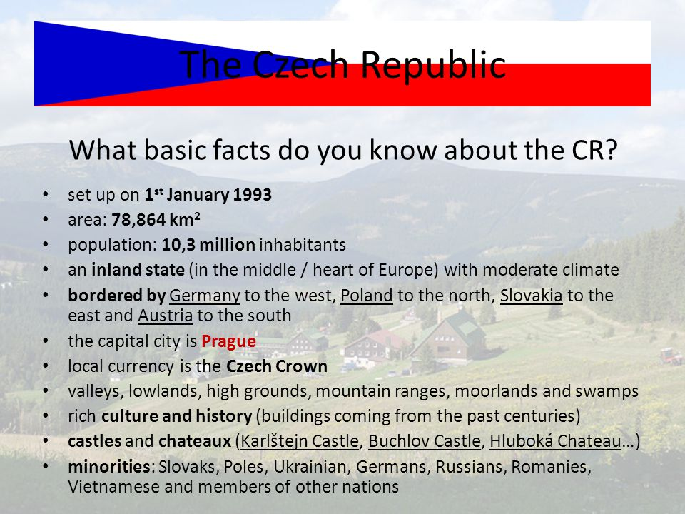 What basic facts do you know about the CR