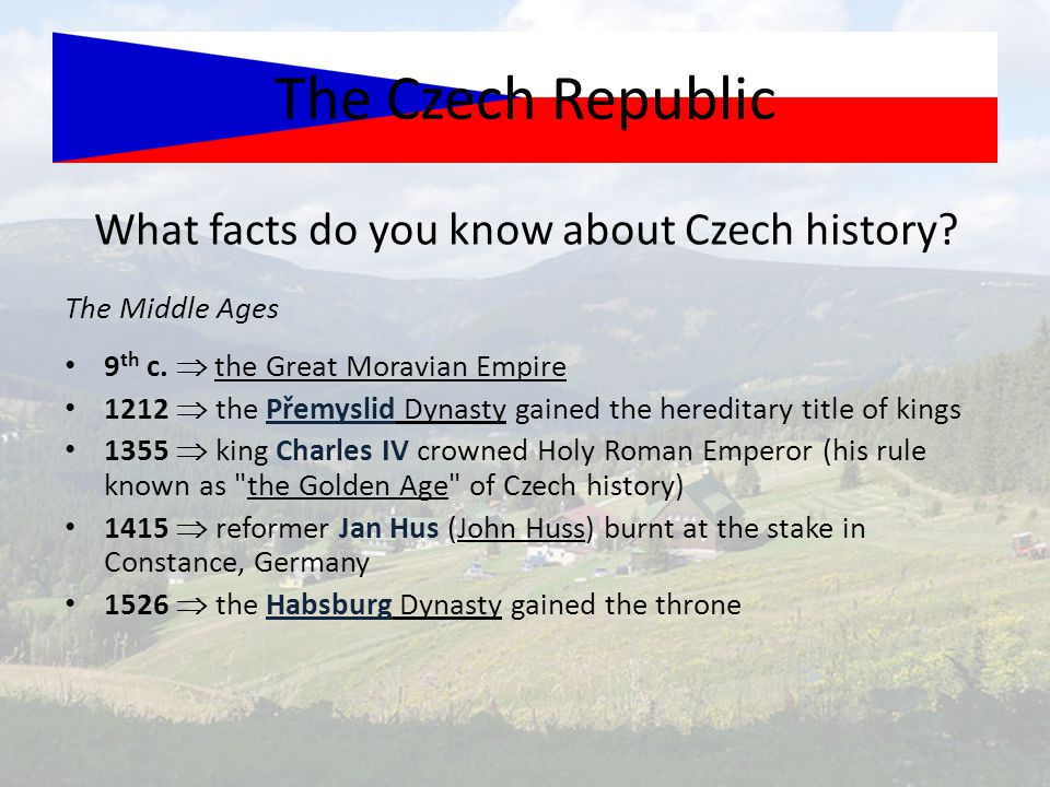 What facts do you know about Czech history