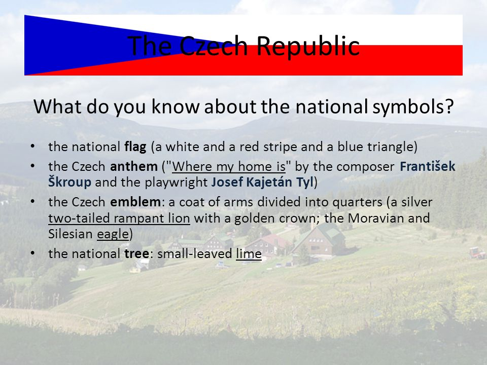 What do you know about the national symbols