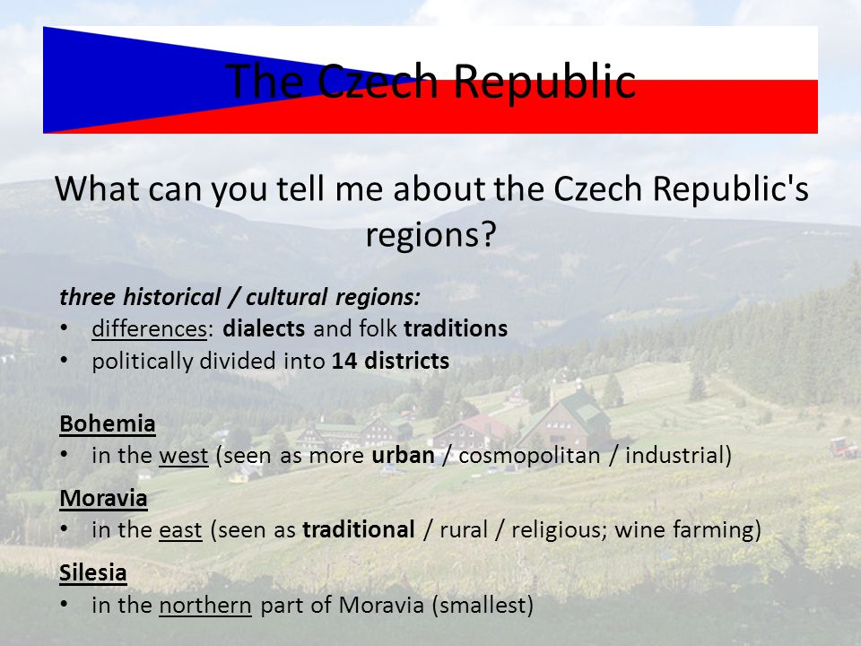 What can you tell me about the Czech Republic s regions