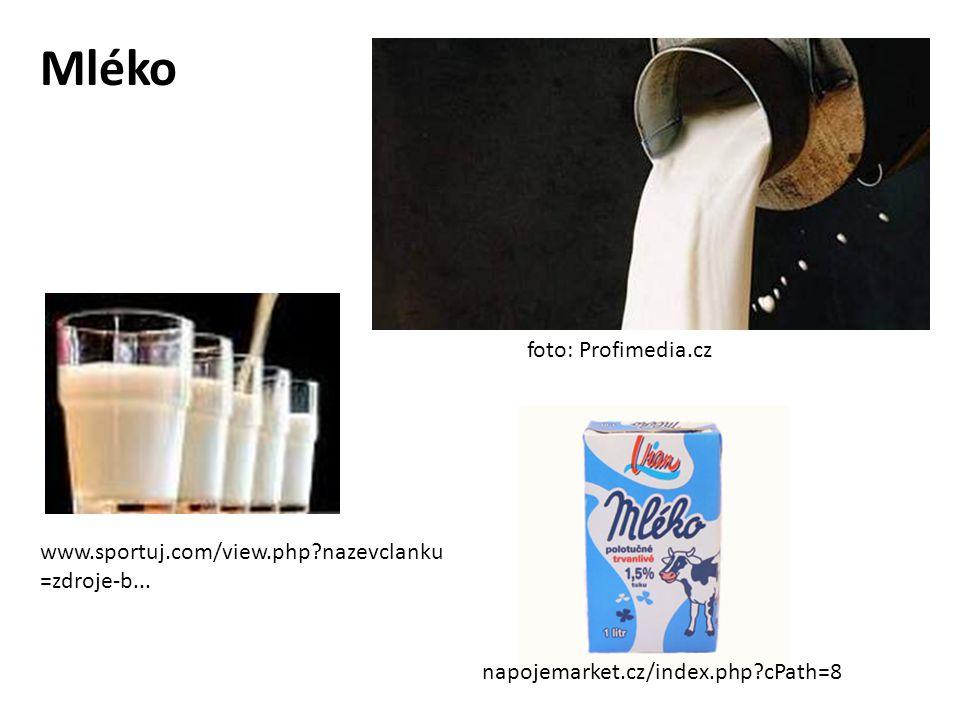 Mléko foto: Profimedia.cz