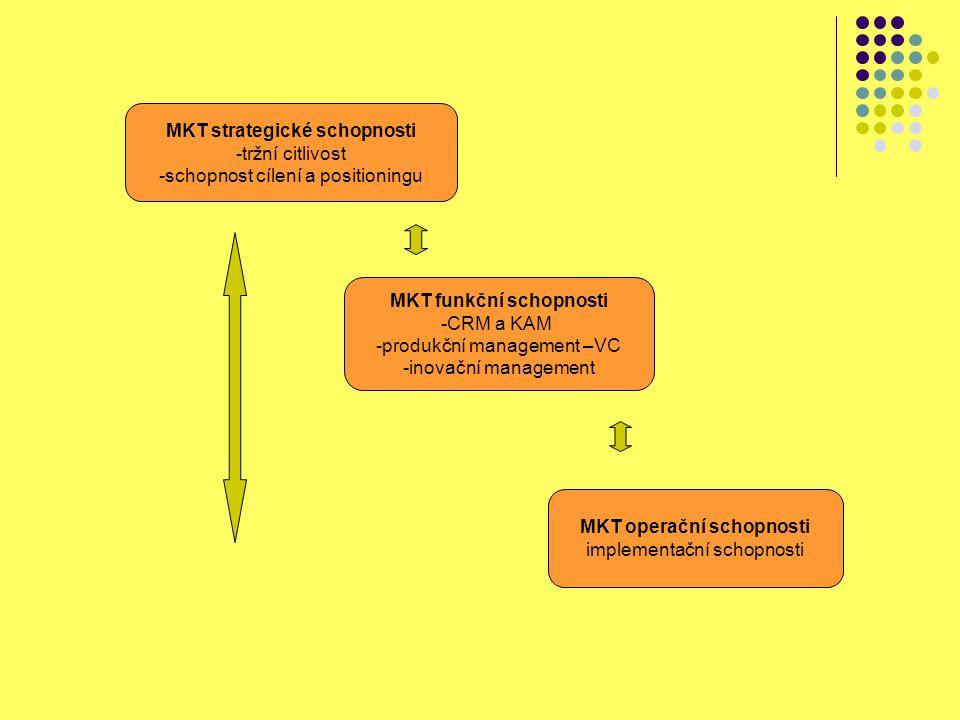 MKT strategické schopnosti tržní citlivost
